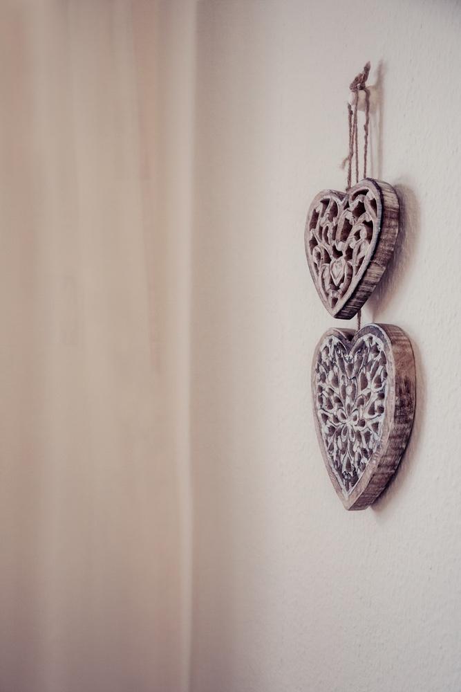 Herzen-Deko in der Praxis
